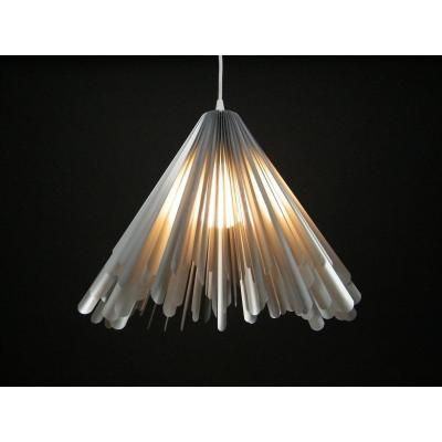 Exkluzív függesztett mennyezeti lámpa, kiszélesedő, ezüst  - HABILLÉE